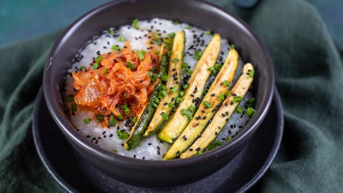 Congee z warzywami  - krok 3