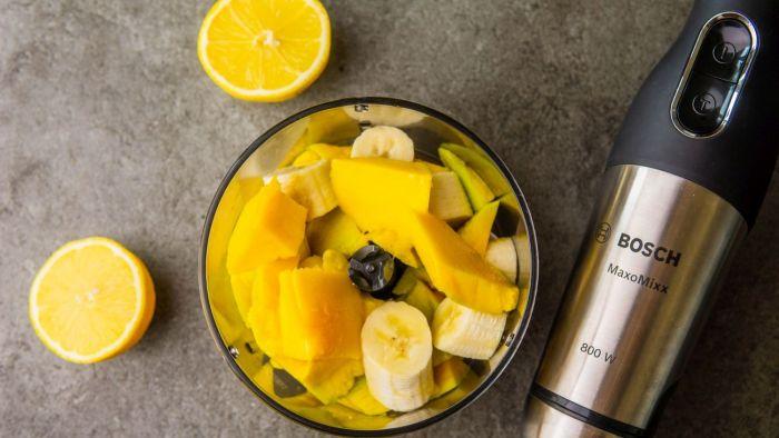 Sorbet z mango - krok 1