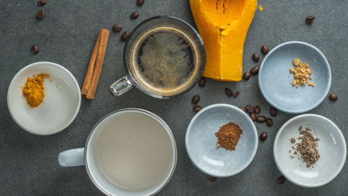 Dyniowa latte - krok 1
