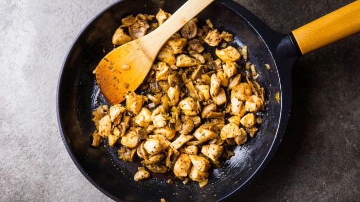 Tarta z kurczakiem - krok 3