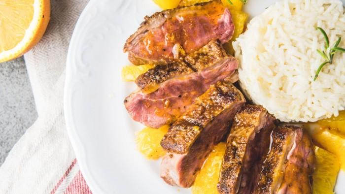 Pierś z gęsi z pomarańczami - krok 5
