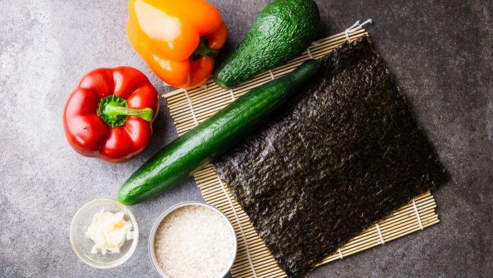 Wegetariańskie sushi - krok 3