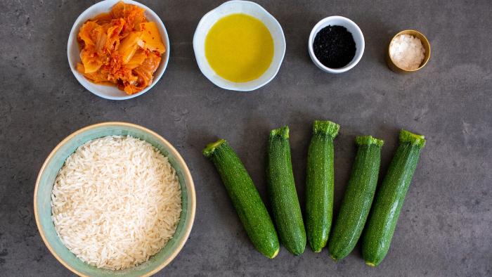 Congee z warzywami  - krok 1
