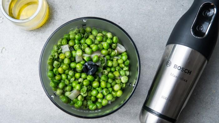 Puree z zielonego groszku - krok 2