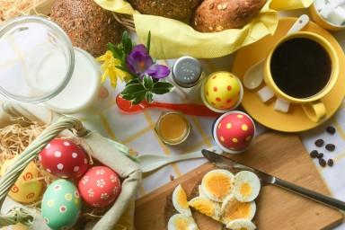 Wegetariańskie śniadanie wielkanocne